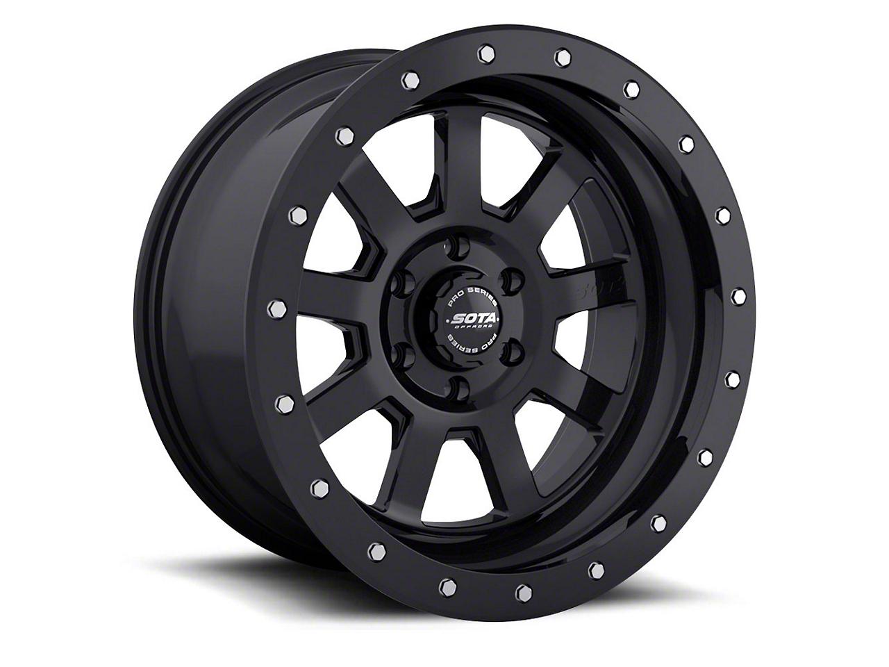 SOTA Off Road S.S.D. Stealth Black Wheel - 17x8.5 (07-18 Jeep Wrangler JK; 2018 Jeep Wrangler JL)
