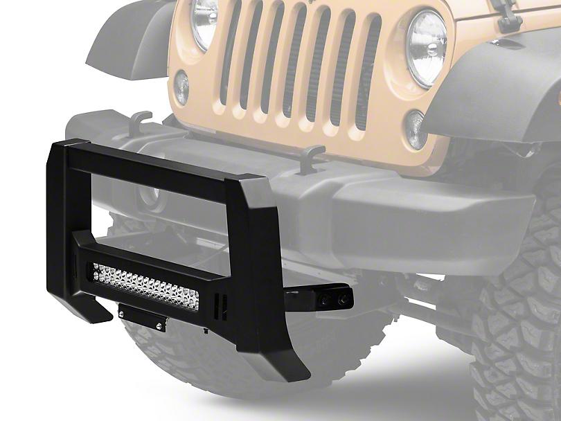 Barricade XHD Bull Bar w/ Dual Row LED Light Bar - Black (10-18 Jeep Wrangler JK)