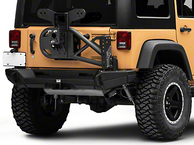 Smittybilt XRC Gen2 Bolt-On Tire Carrier - Textured Black (07-18 Wrangler JK; 2018 Wrangler JL)