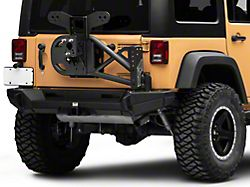 Smittybilt XRC Gen2 Bolt-On Tire Carrier - Textured Black (07-18 Jeep Wrangler JK)