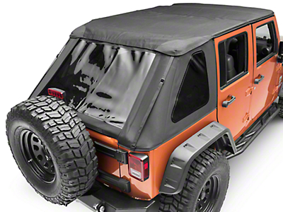 Smittybilt ProT3k Bowless Combo Soft Top w/ Tinted Windows (07-18 Wrangler JK 4 Door)