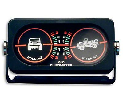 Rugged Ridge Jeep Wrangler Clinometer w/ Jeep Graphic 13309 02