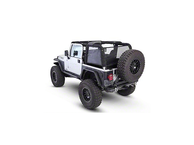 Smittybilt Cloak Mesh Sides and Rear (97-06 Jeep Wrangler TJ)