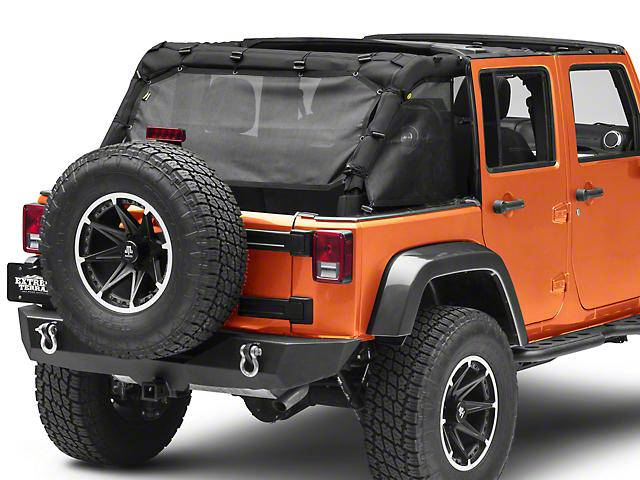 Smittybilt Cloak Mesh Sides & Rear (07-18 Jeep Wrangler JK 4 Door)