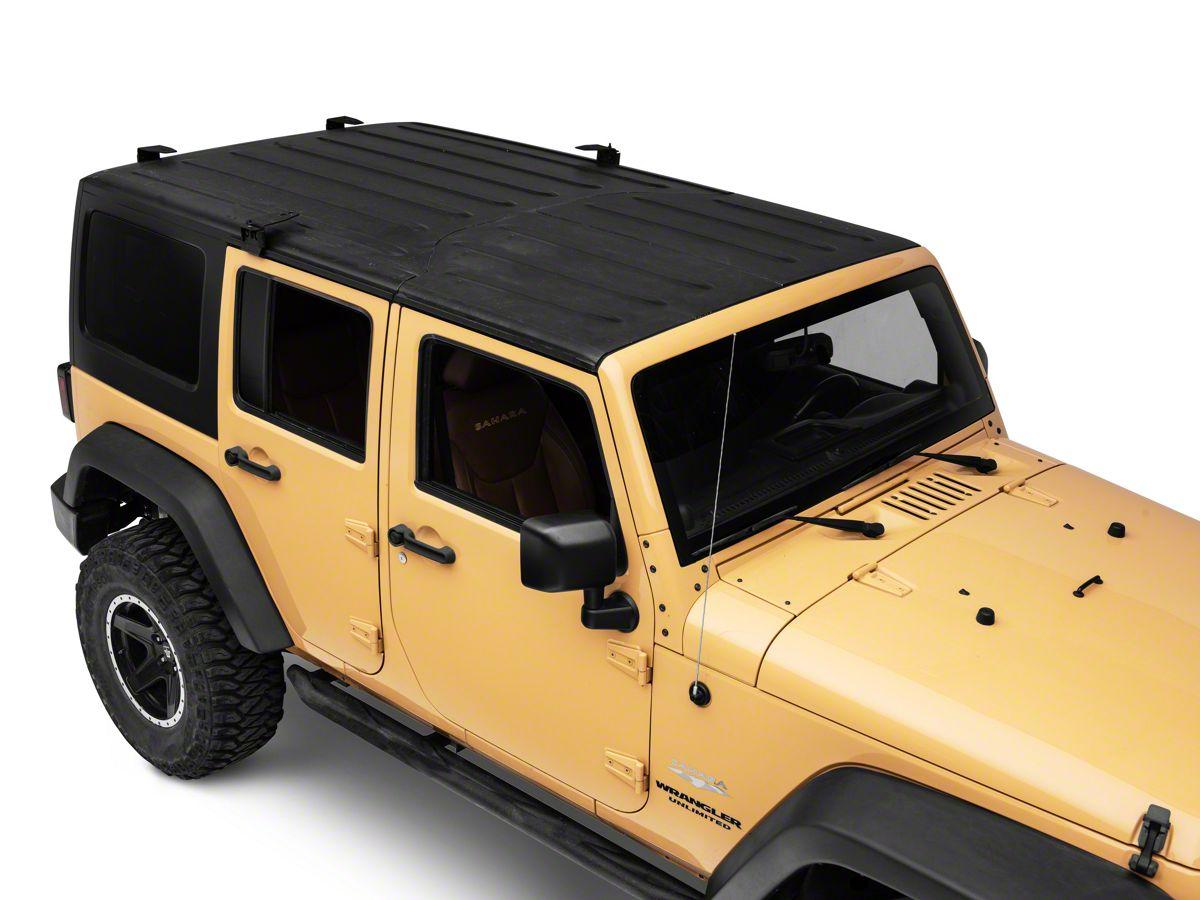 Smittybilt Defender Rack Roof Mounting Kit (07-18 Jeep Wrangler JK on jeep jk hardtop cover, jeep jk hardtop hardware, jeep jk hardtop seals, jeep jk hardtop glass,