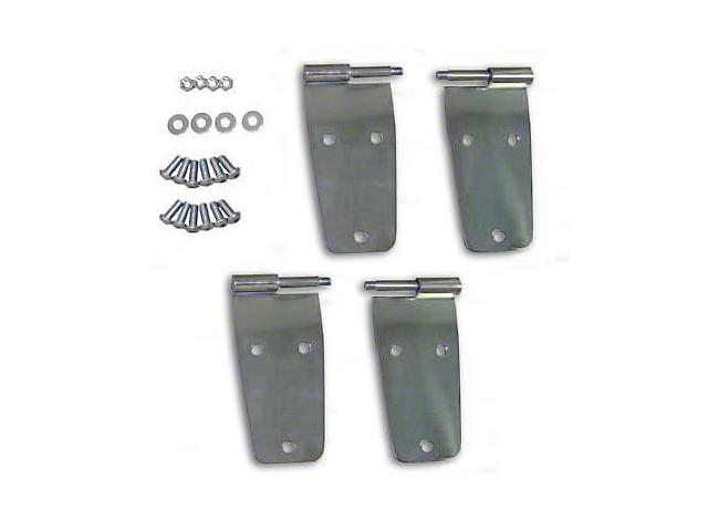 Smittybilt Door Hinges - Stainless Steel (87-93 Jeep Wrangler YJ w/ Full Steel Doors)