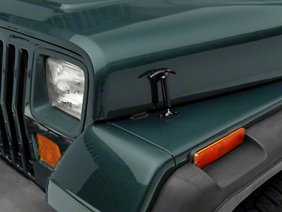 Smittybilt Hood Catch Kit - Black (87-95 Wrangler YJ)