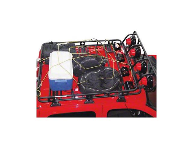 Smittybilt Largo Cargo Net (66-21 Jeep CJ5, CJ7, Wrangler YJ, TJ, JK & JL)