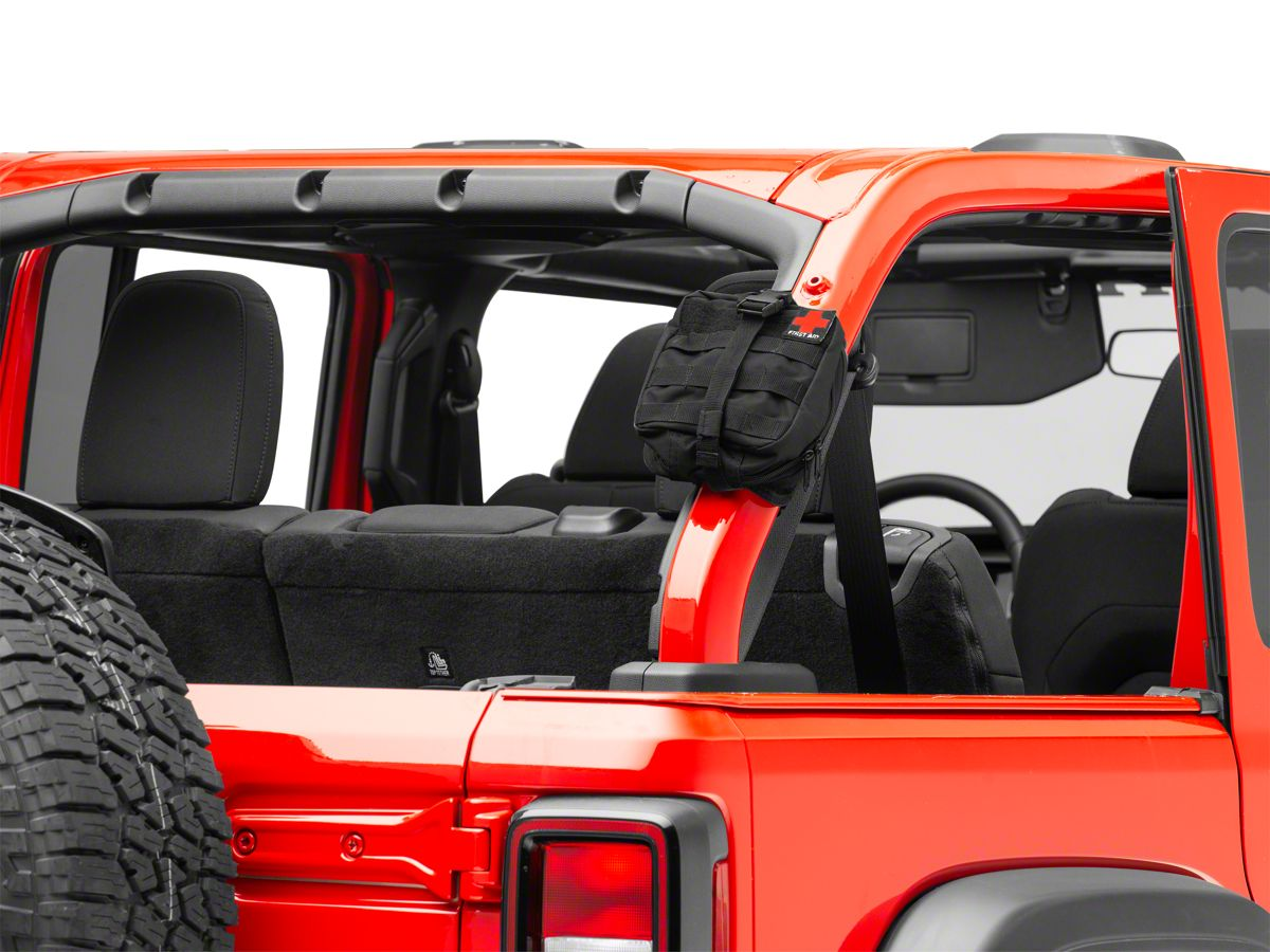 Smittybilt First AID Storage Bar Roll Bar Mount (87-20 Jeep Wrangler YJ,  TJ, JK & JL)