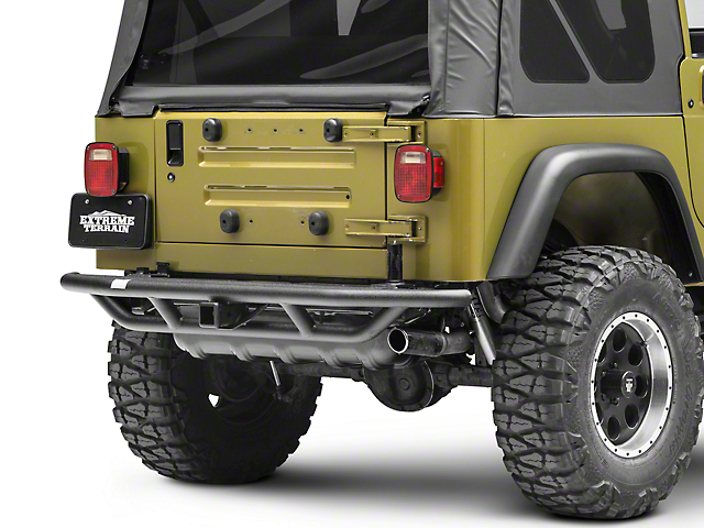 Smittybilt SRC Rear Bumper with Hitch (87-06 Jeep Wrangler YJ & TJ)