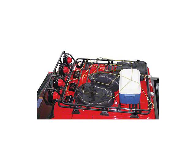 Smittybilt Small Cargo Rack Net (87-20 Jeep Wrangler YJ, TJ, JK & JL)