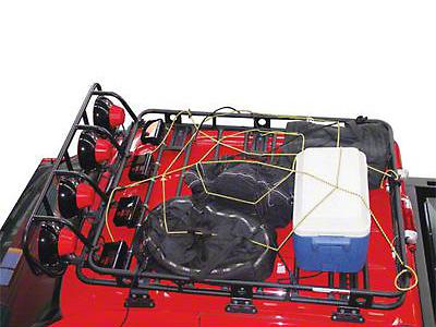 Smittybilt Small Cargo Rack Net (87-18 Jeep Wrangler YJ, TJ, JK & JL)
