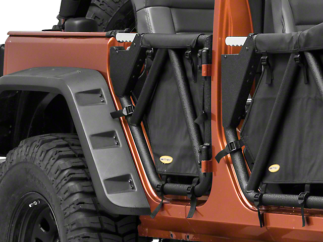 Smittybilt SRC Gen2 Rear Tubular Doors (07-18 Jeep Wrangler JK 4 Door)