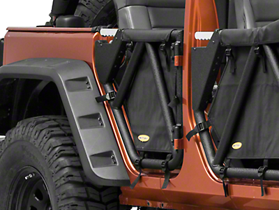 Smittybilt SRC Gen2 Rear Tube Doors (07-18 Jeep Wrangler JK 4 Door)