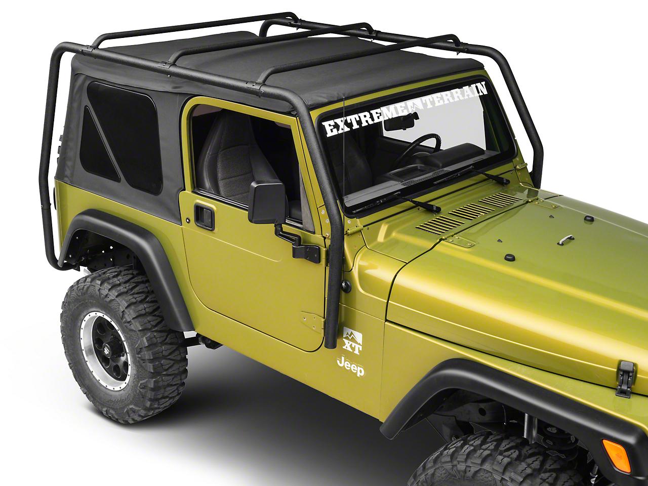 Smittybilt SRC Roof Rack - Black Textured (97-06 Wrangler TJ)