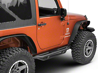 Smittybilt SRC Side Armor - Light Textured (07-18 Jeep Wrangler JK 2 Door)