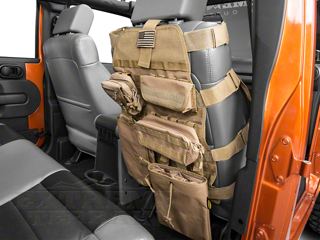 Smittybilt G.E.A.R. Front Seat Cover - Coyote Tan (87-19 Jeep Wrangler YJ, TJ, JK & JL)