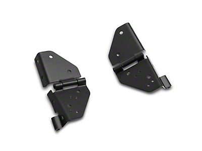 Smittybilt Windshield Hinges - Black (87-95 Jeep Wrangler YJ)
