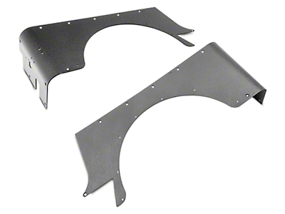 Smittybilt XRC Rear Corner Guards - Textured Black (87-95 Jeep Wrangler YJ)