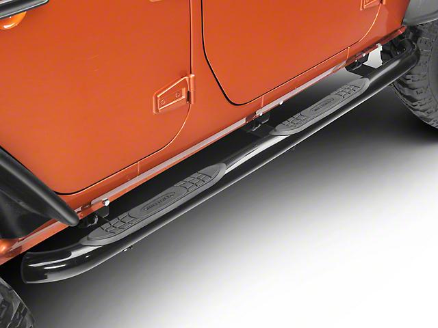 Smittybilt 3 in. Sure Side Step Bars - Gloss Black (07-18 Jeep Wrangler JK 4 Door)