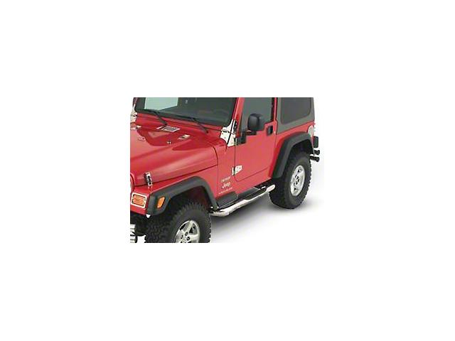 Smittybilt 3 in. Sure Side Step Bars - Stainless Steel (07-18 Jeep Wrangler JK 2 Door)
