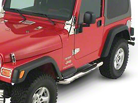 Smittybilt 3 in. Sure Side Step Bars - Stainless Steel (07-18 Jeep Wrangler JK 2 Door)