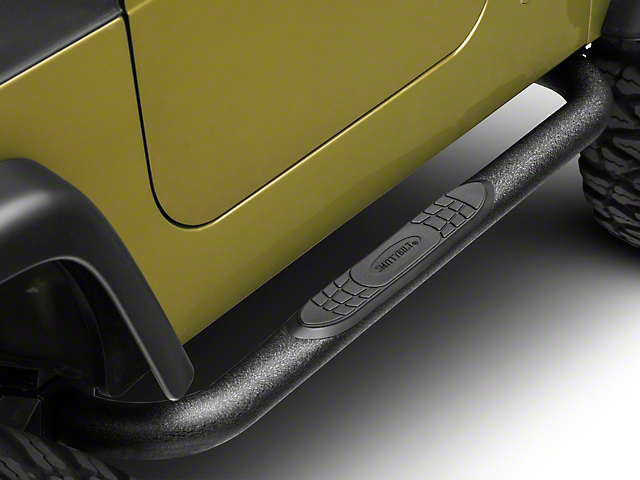 Smittybilt 3-Inch Sure Side Step Bars; Textured Black (97-06 Jeep Wrangler TJ, Excluding Unlimited)