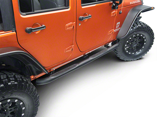 Smittybilt 3 in. Sure Side Step Bars - Textured Black (07-18 Jeep Wrangler JK 4 Door)