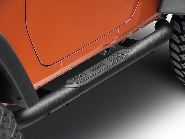 Smittybilt 3-Inch Sure Side Step Bars; Textured Black (07-18 Jeep Wrangler JK 2 Door)