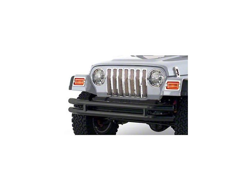 Smittybilt Front Tubular Bumper w/o Hoop - Textured Black (87-06 Jeep Wrangler YJ & TJ)