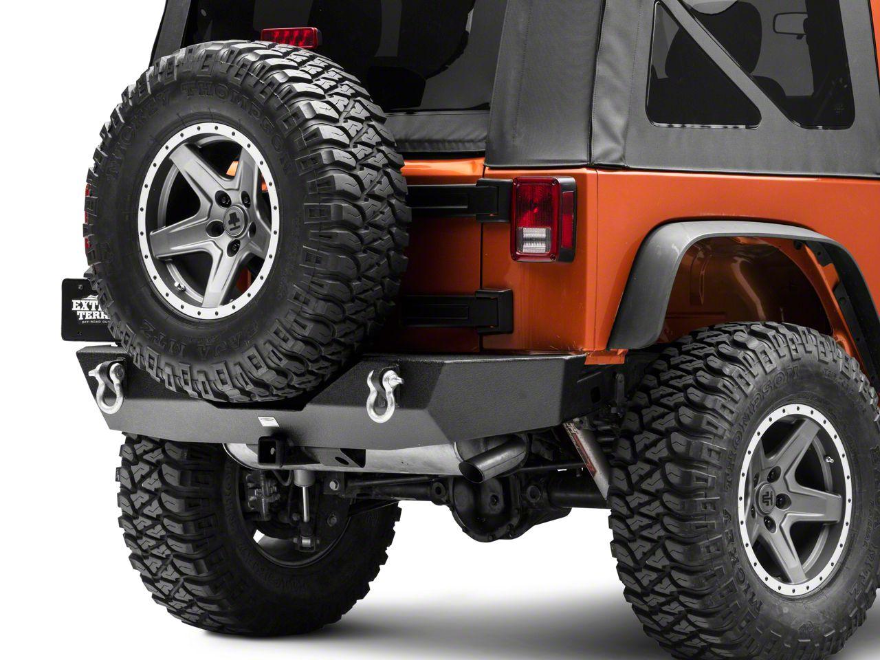 Smittybilt XRC Gen1 Rear Bumper w/o Tire Carrier (07-18 Jeep Wrangler JK)