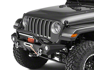 Barricade Adventure HD Front Bumper w/ LED Fog Lights & 20 in. LED Light Bar (2018 Wrangler JL)