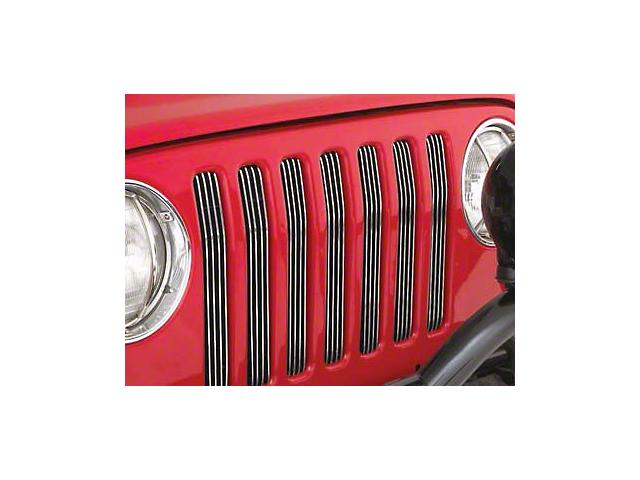 Smittybilt Billet Aluminum Grille Inserts - Silver (97-06 Jeep Wrangler TJ)