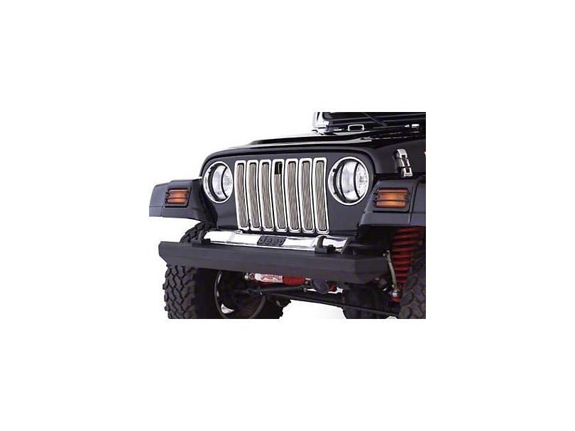 Smittybilt Billet Aluminum Grille Inserts - Chrome (97-06 Jeep Wrangler TJ)