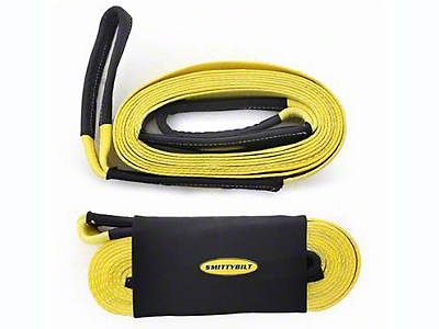 Smittybilt 3 in. x 30 ft. Recovery Tow Strap - 30,000 lb.