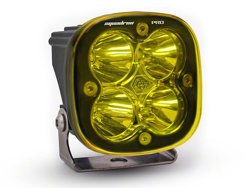 Baja Designs Squadron Pro Round Amber LED Light - Spot Beam