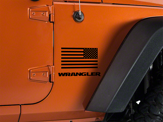 SEC10 Small American Flag; 7x3.5 (87-20 Jeep Wrangler YJ, TJ, JK & JL)