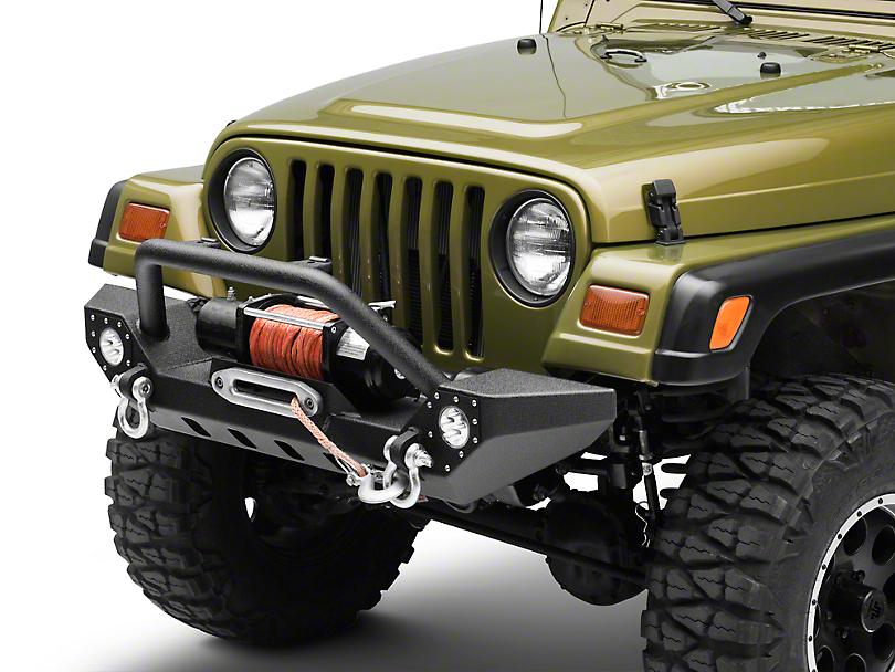 Barricade Adventure HD Bumper w/ LED Fog Lights (87-06 Jeep Wrangler YJ & TJ)