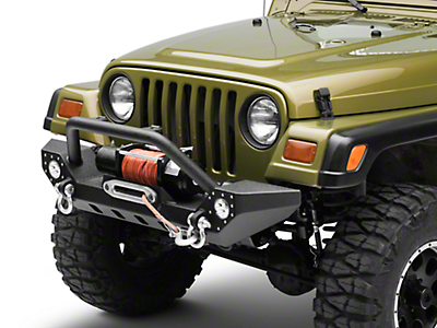 Barricade Adventure HD Bumper w/ LED Fog Lights (87-06 Wrangler YJ & TJ)