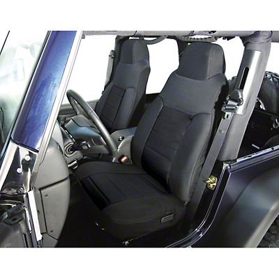 Rugged Ridge Custom Fabric Front Seat Covers Pair Black (87-90 Wrangler YJ)
