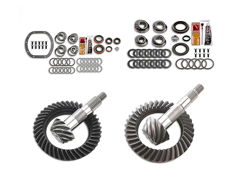 Motive Gear Dana 30 Front Axle/35 Rear Axle Complete Ring and Pinion Gear Kit; 4.56 Gear Ratio (87-95 Jeep Wrangler YJ)
