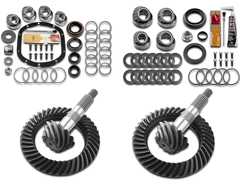 Motive Dana 30 Front Axle/44 Rear Axle Complete Ring Gear and Pinion Kit - 4.10 Gears (97-06 Jeep Wrangler TJ, Excluding Rubicon)