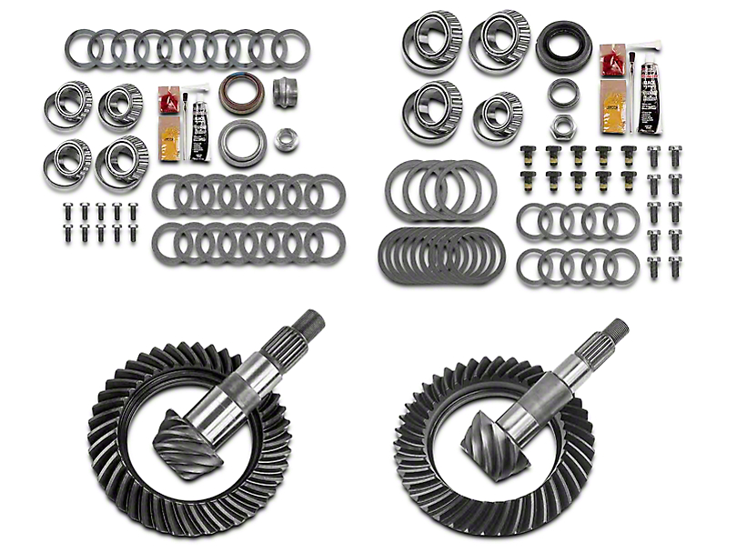 Motive Gear Dana 30 Front Axle/44 Rear Axle Complete Ring Gear and Pinion Kit - 4.56 Gears (07-18 Jeep Wrangler JK, Excluding Rubicon)