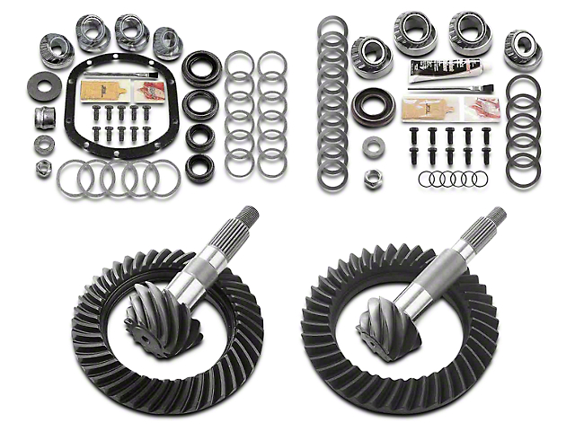 Motive Dana 30 Front Axle/44 Rear Axle Complete Ring Gear and Pinion Kit - 4.56 Gears (97-06 Jeep Wrangler TJ, Excluding Rubicon)