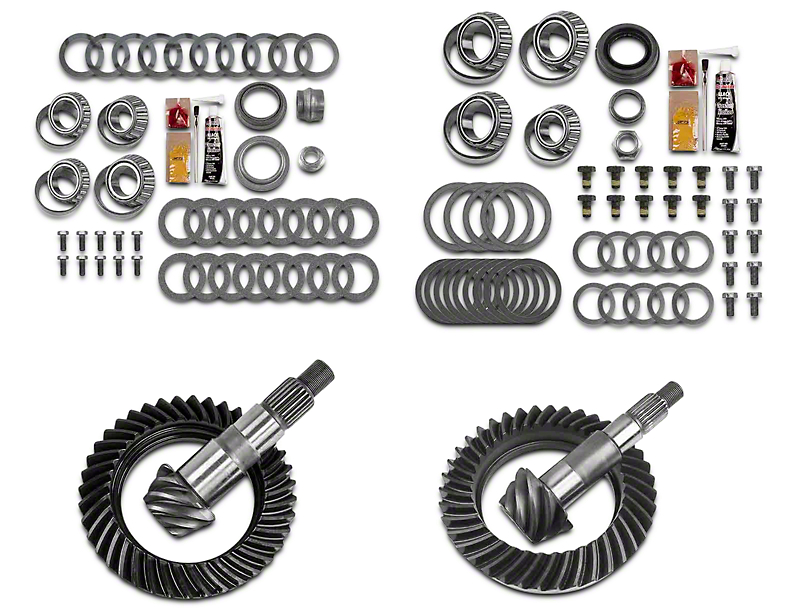 motive gear jeep wrangler dana 30 front axle  44 rear axle complete ring gear and pinion kit