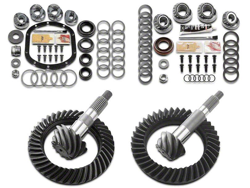 Motive Gear Dana 30 Front Axle/44 Rear Axle Complete Ring and Pinion Gear Kit; 4.88 Gear Ratio (97-06 Jeep Wrangler TJ, Excluding Rubicon)
