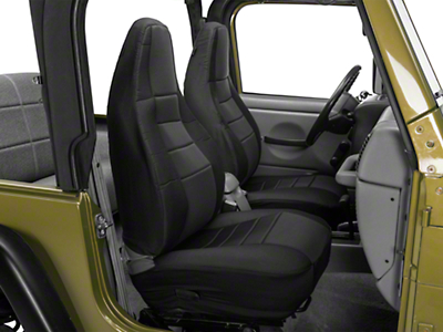 Rugged Ridge Custom Fabric Front Seat Covers - Black (97-02 Wrangler TJ)