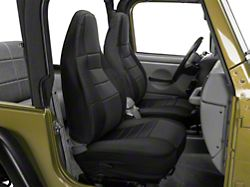 Rugged Ridge Custom Fabric Front Seat Covers - Black (97-02 Jeep Wrangler TJ)