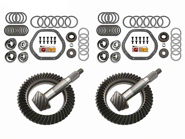 Motive Gear Dana 44 Front Axle/44 Rear Axle Complete Ring and Pinion Gear Kit; 4.56 Gear Ratio (03-06 Jeep Wrangler TJ Rubicon)