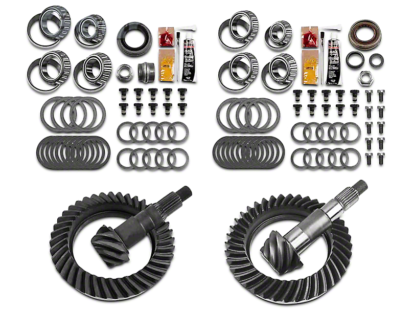 Motive Gear Dana 44 Front Axle/44 Rear Axle Complete Ring and Pinion Gear Kit; 4.88 Gear Ratio (07-18 Jeep Wrangler JK Rubicon)